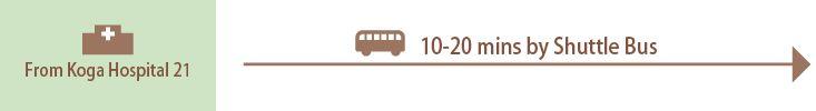 古賀21からシャトルバスで10~20分